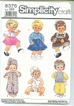Simplicity PATTERN 8376 Doll Clothes~SM 13-14