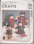 Click here to enlarge image and see more about item 8387A: McCall's Crafts Pattern 8387 Snowmen Family