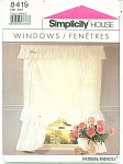 Click here to enlarge image and see more about item 8419P: SIMPLICITY HOUSE WINDOWS CURTAINS/DRAPES 8419