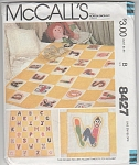 Click here to enlarge image and see more about item 8427: ALPHABET~QUILT~BABY~CHILD'S SIZE~VINTAGE