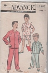 Click here to enlarge image and see more about item 8487: VINTAGE~ADVANCE Boys' Pajama~Pattern~SZ4