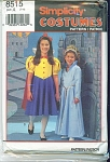Click to view larger image of Simplicity 8515 Girl's Fairy Tale Costume (Image1)