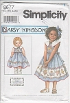 DAISY KINGDOM~ GIRL DRESS W/SLIP~ DOLL PATTER