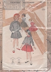 VINTAGE~BUTTERICK~GIRLS DRESS ~JACKET~SZ 6