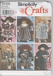 VINTAGE~SIMPLICITY 8688~22 IN DOLL~CLOTHES~UC