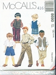 Click here to enlarge image and see more about item 8690P: 8690~ McCall's Boy's Vest Shirt Pants Shorts