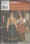 Click to view larger image of SIMPLICITY~8715~RENAISSANCE COSTUMES~SZ 16-20 (Image1)
