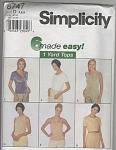 SIMPLICITY~ SZ; D  4,6,8 ~1 YARD TOPS~8747