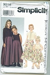 Click here to enlarge image and see more about item 9018K5: JESSICA McCLINTOCK SIMPLICITY PATTERN