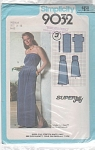 Click here to enlarge image and see more about item 9032P: Strapless Pullover Dress PATTERNs 14-16 Knit