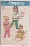 VINTAGE~Simplicity~TODDLER GIRLS WARDROBE~SZ1