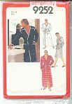 Click to view larger image of VINTAGE SIMPLICITY MENS WRAP ROBE 9252 (Image1)