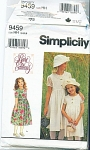 Click here to enlarge image and see more about item 9459: Simplicity  9459 3-6 RARE Editions Party Dres