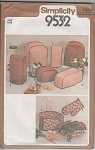 Click here to enlarge image and see more about item 9532: VINTAGE~PATTERN~APPLIANCE COVERS OVEN MITT