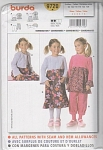 BURDA~ Pattern~ 9719~Size 3-8 GIRLS~OUTFITS