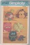 Click here to enlarge image and see more about item 9740: VINTAGE~RETRO~ANIMAL PILLOW TOYS~OOP~1971~