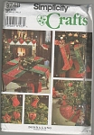 Click here to enlarge image and see more about item 9748: SIMPLICITY~VINTAGE CHRISTMAS DECOR~OOP~1995