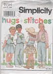 Click here to enlarge image and see more about item 9794P: Simplicity 9794- Child's Pants, Skirt, Vest,
