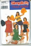 SIMPLICITY CHEER LEADER COSTUME PATTERN 9806R