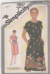 Click here to enlarge image and see more about item 9827: JIFFY~DRESS PATTERN~VINTAGE 1980~SZ14~OOP