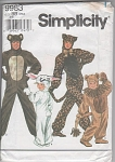 Click here to enlarge image and see more about item 9983: COSTUME PATTERN~BUNNY~LION~BEAR~LEOPARD~2-12