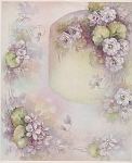 Click here to enlarge image and see more about item AMES11: SONIE AMES~DESIGNS~CHINA PAINTING~VIOLET STUD