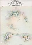 Click here to enlarge image and see more about item AMES41: PANSIES~FORGET-ME-NOTS~SONIE AMES~#41~1970