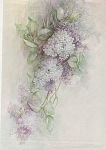 Click here to enlarge image and see more about item AMES85: VINTAGE~LILAC TILE~SONIE AMES~1978