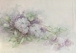 Click here to enlarge image and see more about item AMRS85: SONIE AMES~LILAC STUDY~VINTAGE 1978~OOP