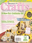Click here to enlarge image and see more about item B0136: Crafts magazine -  September 1997