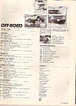 Click here to enlarge image and see more about item B0203: Off-Road magazine-  April 1985