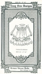 Click here to enlarge image and see more about item BHD294: BHD294 TODDLER DOLL DRESS PATTERN