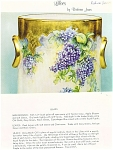 Click here to enlarge image and see more about item BJ5A: LILACS CHINA PAINTING STUDY BY BARB JONES