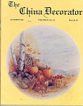 VINTAGE~THE CHINA DECORATOR~ OCTOBER~1984