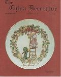 VINTAGE~THE CHINA DECORATOR~DECEMBER 1987