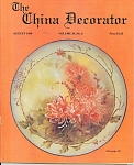 Click here to enlarge image and see more about item CD81989A: CHINA DECORATOR  AUGUST  1989