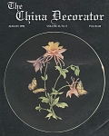 VINTAGE~THE CHINA DECORATOR~AUGUST~1990