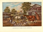 Click here to enlarge image and see more about item CI025: AMERICAN FARM  YARD- MORNING