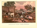 Click here to enlarge image and see more about item CI026: AMERICAN FARM YARD - EVENING