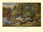 Click here to enlarge image and see more about item CI047: CURRIER AND  IVES-  RETURNING TO CAMP