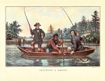 Click here to enlarge image and see more about item CI051: CURRIER AND IVES - CATCHING A TROUT