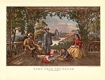 Click here to enlarge image and see more about item CI052: CURRIER AND IVES - HOME FROM THE BROOK