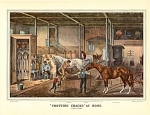 Click here to enlarge image and see more about item CI054: CURRIER AND IVES - AND HORSES RUN FASTER