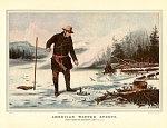 Click here to enlarge image and see more about item CI057: AMERICAN WINTER SPORTS TROUT FISHING