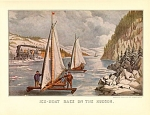Click here to enlarge image and see more about item CI058: CURRIER AND IVES  ICE BOAT RACE ON THE HUDSON