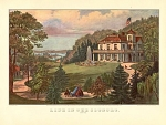 Click here to enlarge image and see more about item CICI015: CURRIER AND IVES LIFE IN THE COUNTRY EVENING