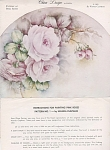 Click here to enlarge image and see more about item CLAPHAM1A: VINTAGE~CLAPHAM~PALE PINK ROSES~1965~OOP