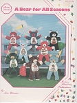 Click here to enlarge image and see more about item CR111100: A Bear for All Seasons - Cross Stitch~Tummy B