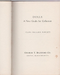 Click here to enlarge image and see more about item DNGC: Dolls A New Guide for Collectors~by FAWCETT