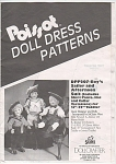 POISSOT (DPP176) DOLL CLOTHING PATTERN~21-22